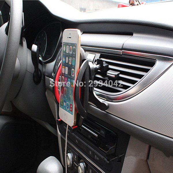 car-styling Vehicle mounted mobile phone tuyere type bracket car accessories for Dodge ram charger journey challenger caliber