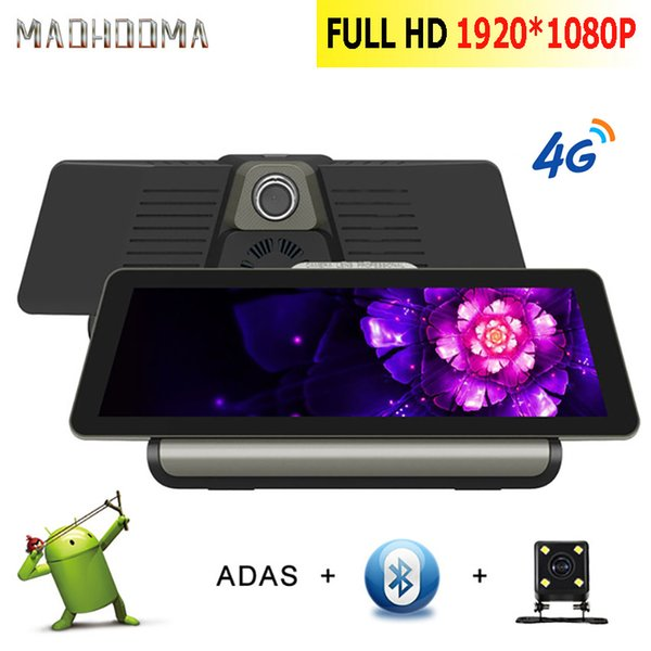 MaoHooMa 4G Wifi 10'' Car DVR Camera Android 5.1 GPS Navigation ADAS Remote Monitor Dual Len Dash Cam with Rear View Camera DVRS