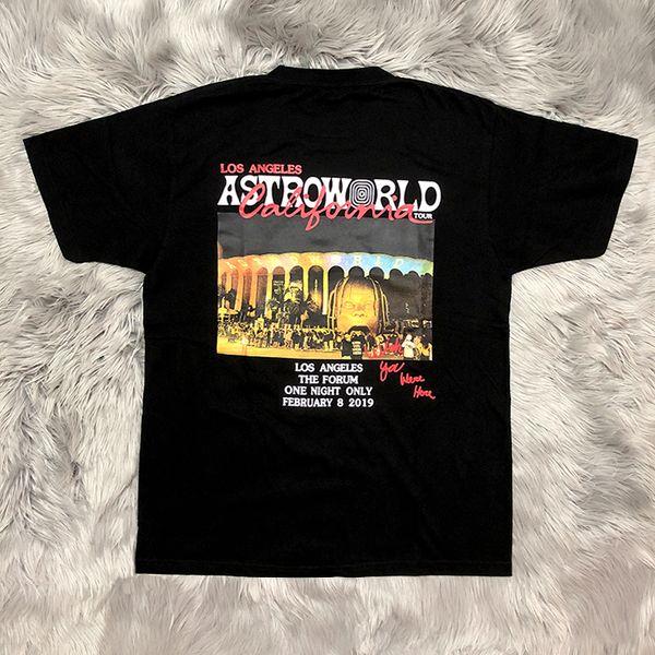 Travis Scott AstroWorld Mens Tshirts Short Sleeve Crew Neck Fashion Casual Clothing World Tour Concert Apparel