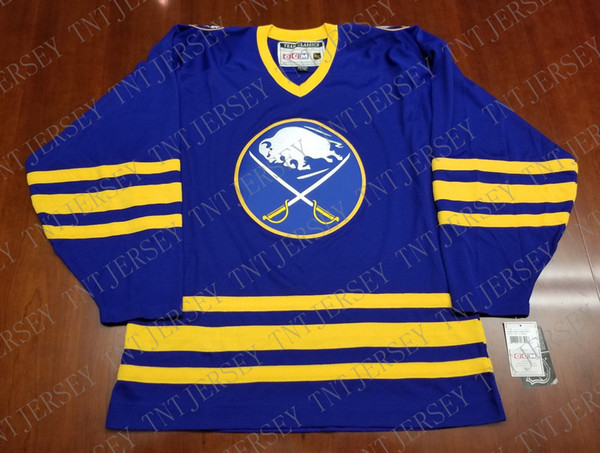 Cheap custom Buffalo Sabres Vintage CCM Jersey NEW Stitched Retro Hockey Jersey Customize any name number XS-5XL
