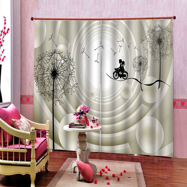 2019 Dandelion Luxury Blackout 3D Window Curtain For Living Room Bedroom  Cartoon Character Curtains Sets Left And Right Side From A1048874333,  $137.69 ...