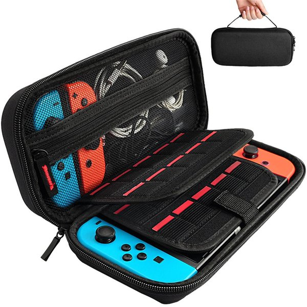 top popular Hestia Goods Switch Carrying Case compatible with Nintendo Switch - 20 Game Cartridges Protective Hard Shell Travel Carrying Case Pouch 2019