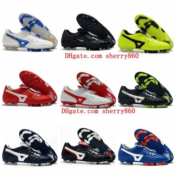2019 nouvelle arrivée top qualité Wave Cup chaussures de football Morelia II FG football crampons bottes de football en plein air girouettes de football