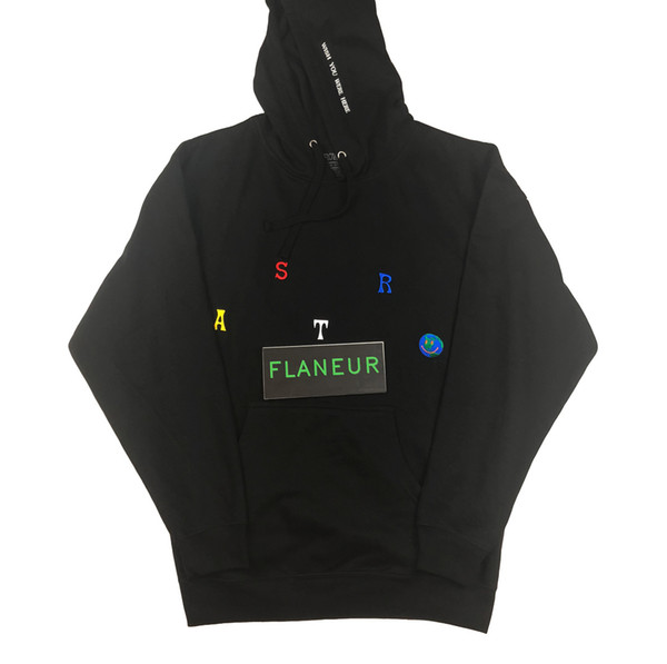 Astroworld Hoodie High Quality Embroidered Mens Designer Hoodies Fleeced Sweatshirts Free shipping Hip Hop Pullover 2018 Travis Clothing