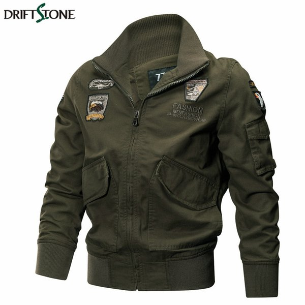 Men Jackets Autumn Winter Tactical Pilot Coat Quality Cotton Army Jackets Male Casual Outerwear Clothes