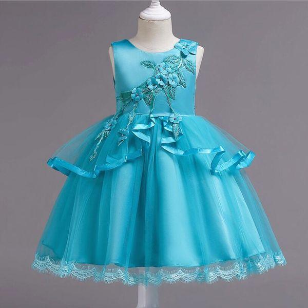 Compre 2019 Vestido De Fiesta Para Niños Ropa Para Niñas Vestido Elegante Vestido De Novia Vestidos Para Niñas Ropa Para Fiesta Princesa 12 Años A