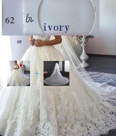 (Elfenbein) Kleid + Schleier
