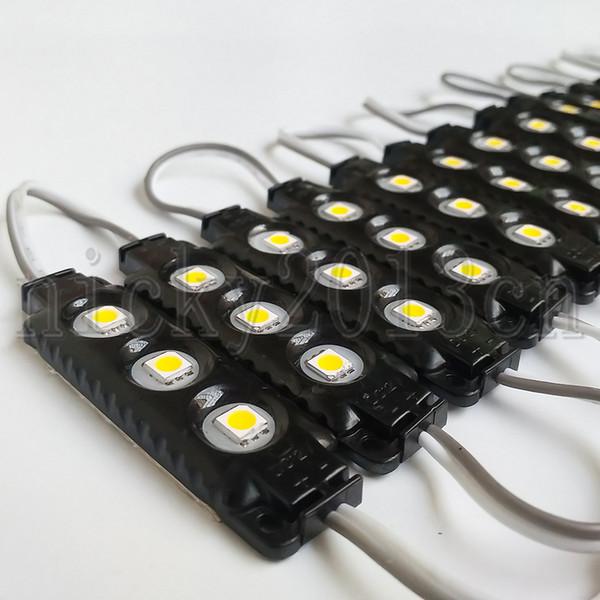 Super Bright 12V 5050 LED Modul Lichtleiste Lampe Affe 3 LEDs Spritzguss Schwarz ABS IP65 Wasserdicht Weiß Warm Rot Grün Blau
