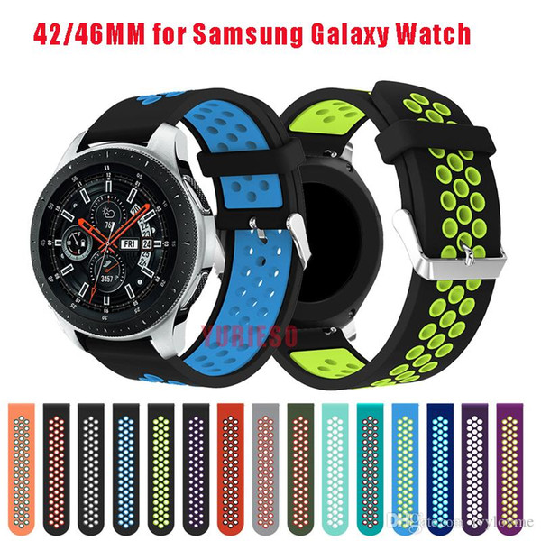 20/22mm Silicone strap for Samsung Galaxy Watch 42mm smart watch band for Samsung Galaxy Watch 46mm Bracelet Accessories