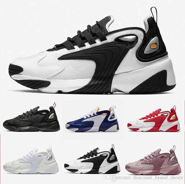 Creamy Black Triple White Zoom 2K M2K men running shoes Tekno Race Red Royal Blue Dark Grey for men s women sports sneaker 36-45