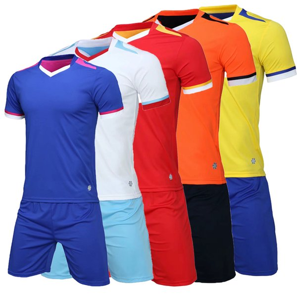 2019 2020 unisex home football sports suit solid color sports suit can be customized digital and text quick-drying style