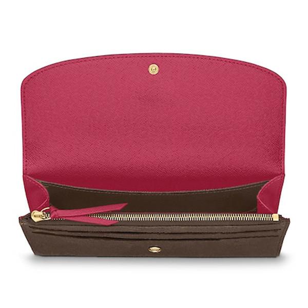 Cartera de diseñador Bolso con cremallera de la cartera para mujer Bolso monedero de diseño para mujer Titular de la tarjeta de moda Bolsillo largo con bolsa