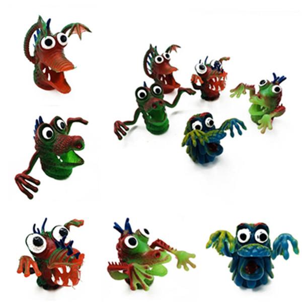 Творческих детских Finger игрушек мальчик Bedtime Story Странных игрушки куклы имитация животные Silica Палец крышка игрушка T9I0026