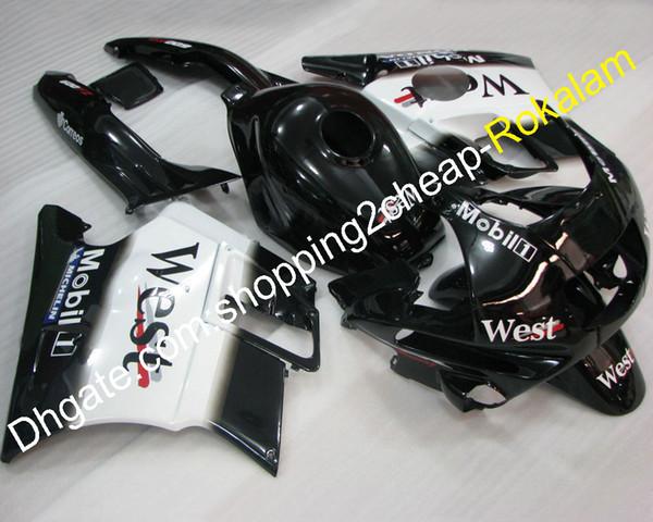 Kit de motocicleta popular para el juego de carenado Honda CBR600 F2 CBR 600-F2 600F2 1991 1992 1993 1994 West Body Body Carenado de motocicleta
