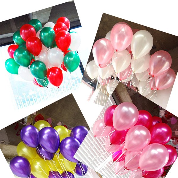 heap & Accessories 200pcs/lot wedding decor birthday party balloon 10inch 1.2g transparent balloons ball pink black red white party...