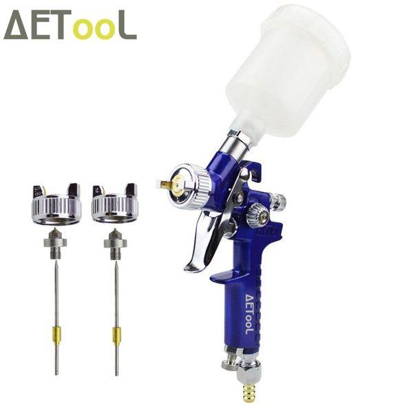 AETool 0.8MM/1.0MM Nozzle Replace Kit+ Professional Spray Gun Blue Mini Air Paint Guns Airbrush For Painting Car Aerograph