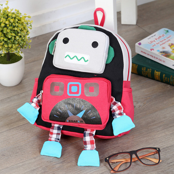 Charismatic2019 A Children Bag Kindergarten Male 1-3-6 One Full Year Of Life Korean Robot Both Shoulders Package Woman Baby Small Backpack