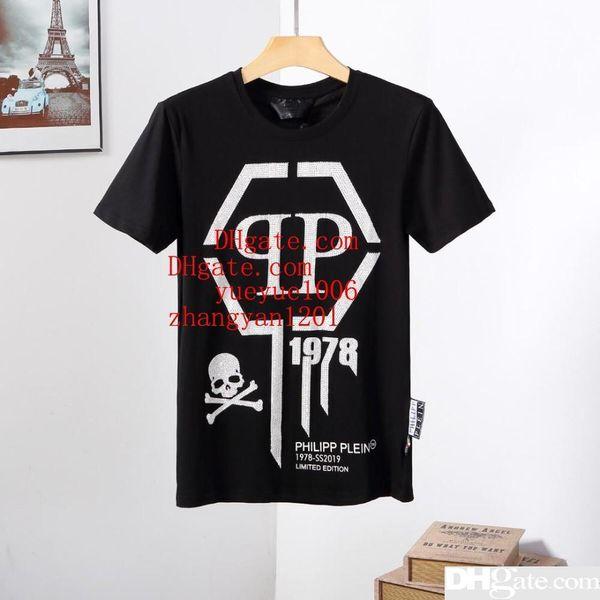 2019 homens da moda da marca T Camisas carta preta impressão rua de manga curta de todos os jogo T-shirt casual tee Alta qualidade verão homens roupas ABC-2