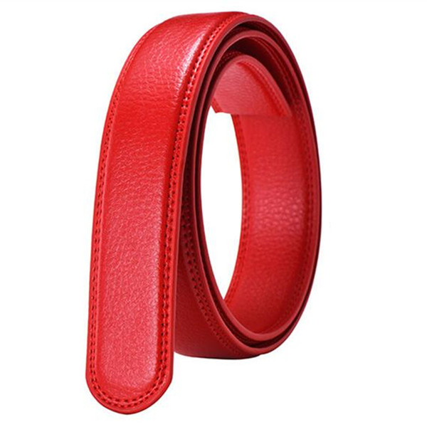Men's No Buckle Belt Body Strap Without Buckle Belts Man Business Casual Male Black Coffee White Red Belts Automatic Belt