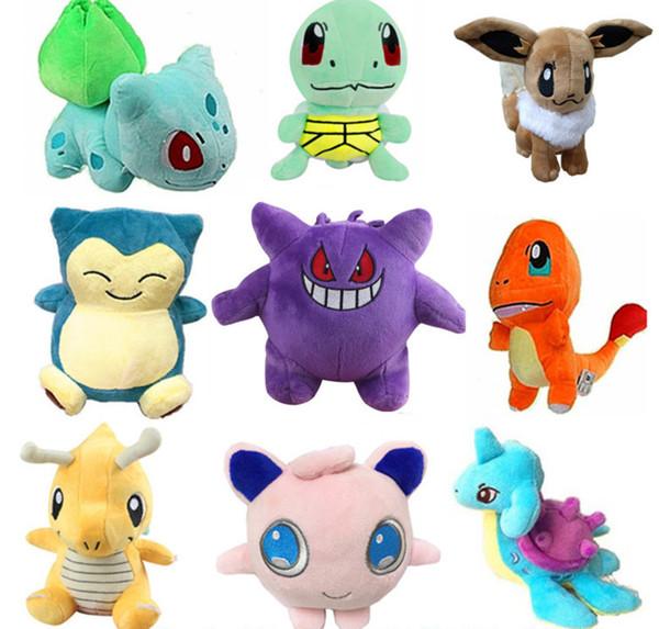 Pikachu Peluches Jouets poupées Squirtle Charmander Bulbasaur Pikachu Peluche dessin animé Peluches doux cadeau de Noël jouets