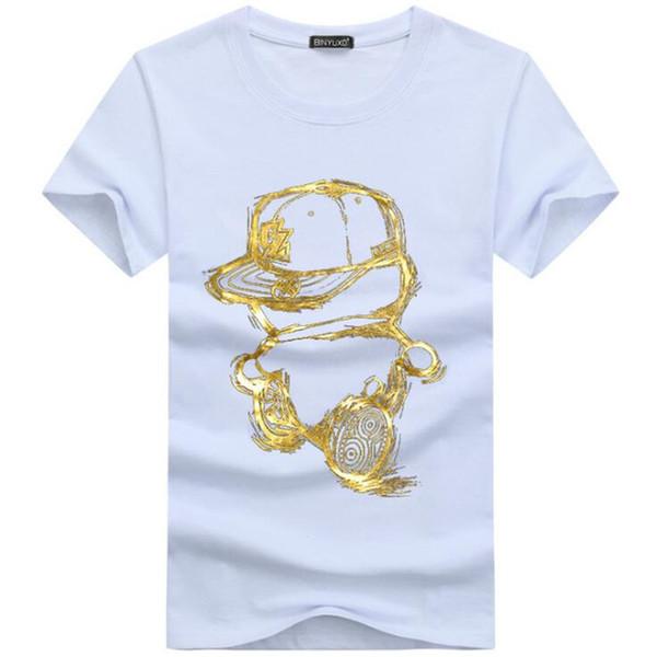 Remise 2019 nouvelle mode été t-shirt hommes o-cou coton t-shirt confortable T-shirt décontracté homme manches courtes Impression BY5
