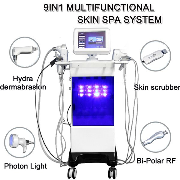 2019 water dermabrasion Hydrafacial skin deep cleaning machine water mesotherapy Spray gun RF skin care lift facial rejuvenation hydra