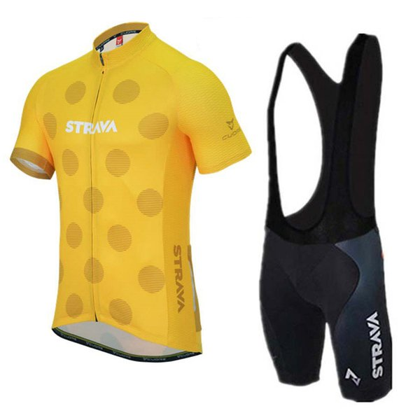 2019 STRAVA Cycling Jersey Set Summer quick dry Team Bike Clothing Ropa Ciclismo MTB Bicycle Clothing Outdoor Sports Suit Y022203