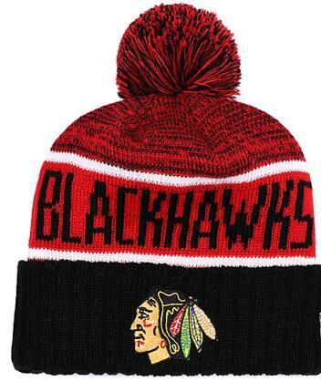BLACKHAWKS Ice Hockey Knit Beanies Embroidery Adjustable Hat Embroidered Snapback Caps Orange White Black Stitched Hat One Size 01
