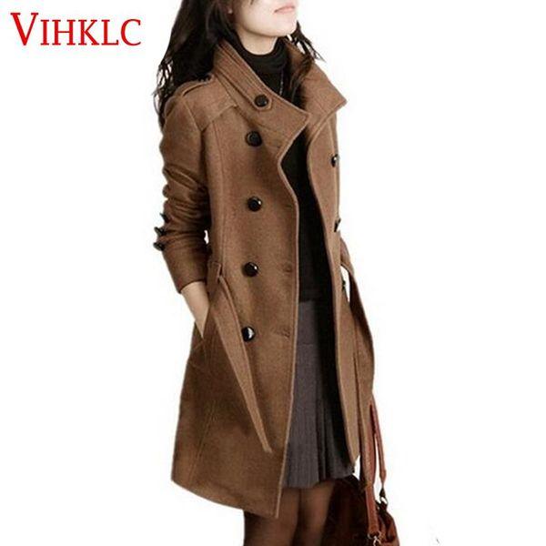Plus Neue Für Mäntel Größe Frauen Großhandel Winter Mantel Y707 Schlank Zweireiher 2016 Lange Oberbekleidung Graben Wollmantel xBrodeC