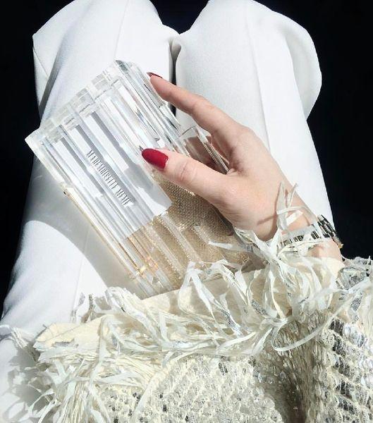 Top Marke Klar Transparent Acryl Handtaschen Hard Case Tasche Abendtrends Seethorough Stylise Fashioniospo Persönliche Box Kupplungen