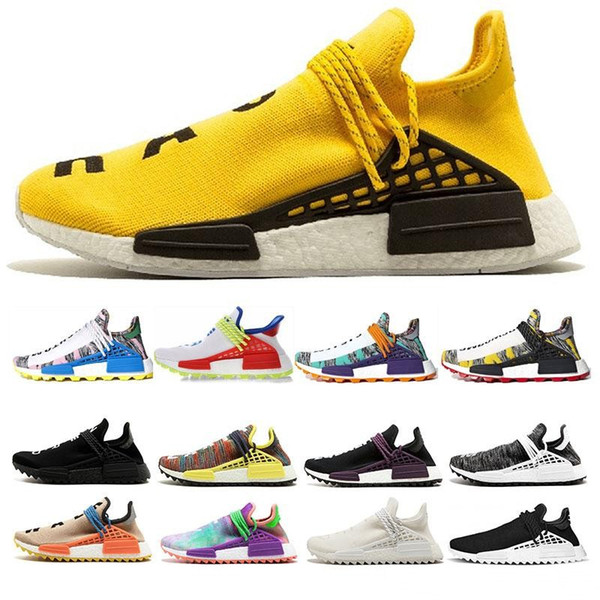 2018 new Human Race pharrell williams Running Shoes For Women Men Designer Mens Sports Trainers Sneakers RUNNER Chaussures 5-10