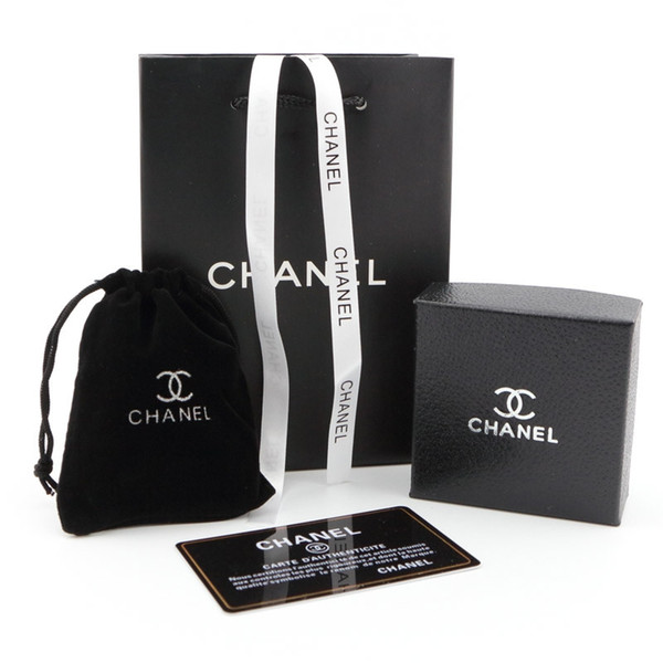 Luxury Necklaces Pouches Jewelry Fashion Design Earring Box Brand Black Packaging Jewelry Birthday Gifts Ornament Boxes
