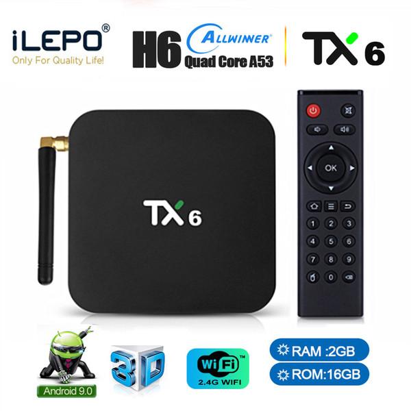 top popular Android 9.0 TV Box Allwinner H6 TX6 Smart Television Tv Streaming Box 2GB 16GB 2.4G WiFi 4K H.265 Media Player 2020