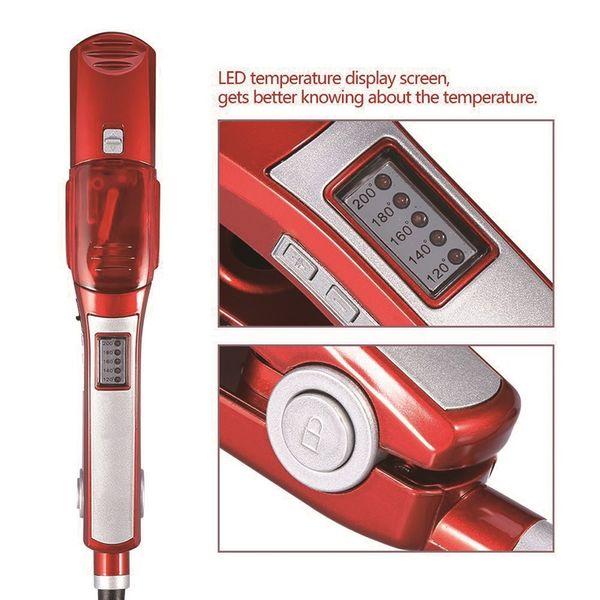 Professionelle Steam Flat Iron Haarglätter Schnelle Keramik Titanplatte Temperaturregelung nass und trocken mit