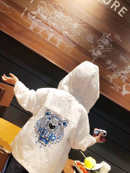 Neue Mode Sommer Frühling Baby Jungen Mädchen Kleidung Hoodies Sonnenschutz Kleidung Kinder Casual Strand Jacken Mäntel