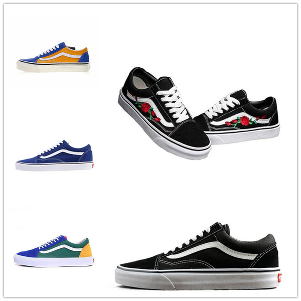 Sapatos da moda Unisex Casa fora Das Mulheres Dos Homens tênis preto branco Verde para o projeto skate Esportes Clássico Velho skool causal shoe36-44 D668866887799