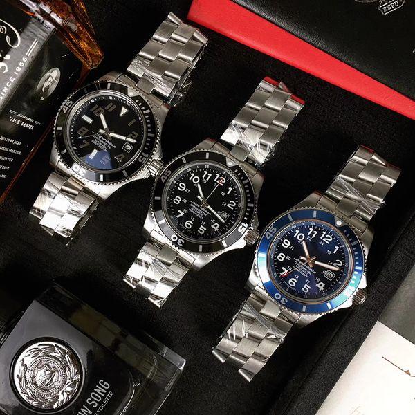 lüks 43mm iş rahat otomatik hareket çelik kayış Mens Luxus-Uhren saatler Big tarihi Cumhurbaşkanlığı tasarımını izlemek saatler saatler