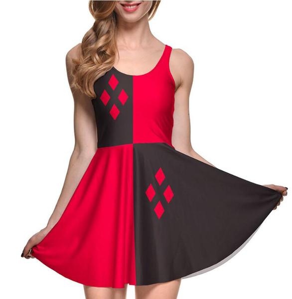 poisson échelle d'impression de style européen et américain chaud jupe jupe dame populaire jupe plissée tempérament robe d'été
