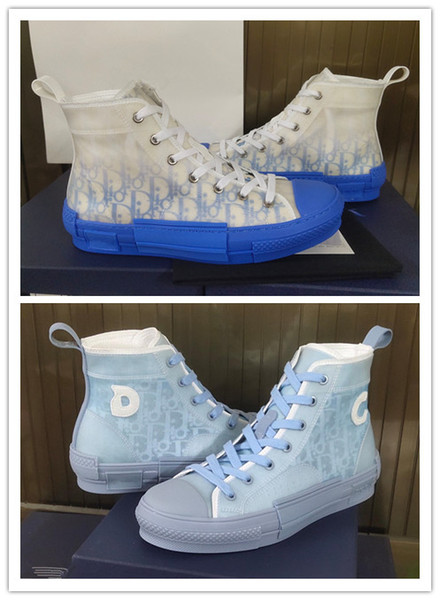 top popular Men Women DANIEL ARSHAM B23 shoes air basketball platform vintage triple designer Brand Chaussures HIGH-TOP sneakers IN LIGHT BLUE 35-46 2020