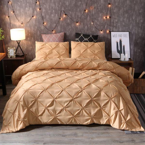 Decorative King Pillow Shams.Idouillet Chic Princess Duvet Cover Set With Decorative Pillow Shams Pinch Pleat Ruffled Design Bedding Home Textile Queen King Bedding Set King Queen