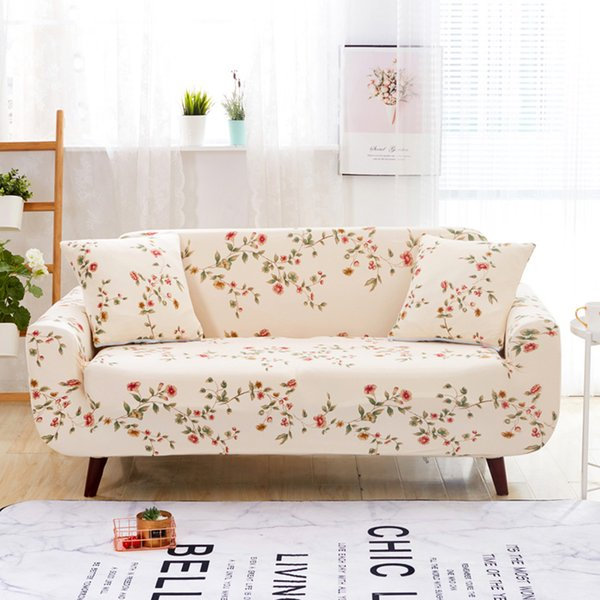 Astounding Floral Pattern Universal Elastic Stretch Sofa Covers Living Room Couch Slipcovers Cases Spandex Furniture Protector Home Decor Slip Cover Couches Slip Pabps2019 Chair Design Images Pabps2019Com