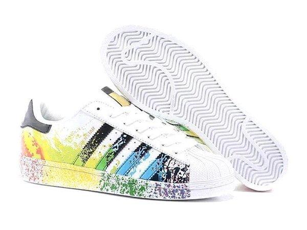 2019 Original Superstar White Hologram Iridescent Gray Gold Superstars 80s Pride Sneakers Super Star Women Men Sport Casual Shoes EUR 36 45 Mens