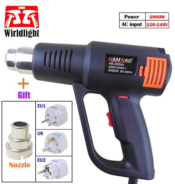 220V 2000W Industrial Hot Air gun shrink plastic welding Heat Gun Thermoregulator Temperature Adjustable heating EU/US Plug