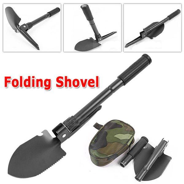 Portable Folding Shovel Survival Spade Trowel Dibble Pick Emergency Garden Camping Outdoor Palaplegable Tool