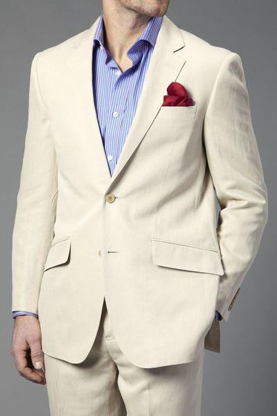 새로운 아이보리 슬림 핏 맨즈 웨딩 신랑 턱시도 댄스 파티 복장 2 벌 (Jacekt + Pants) 신랑 정장 베스트 맨 블레이저 162