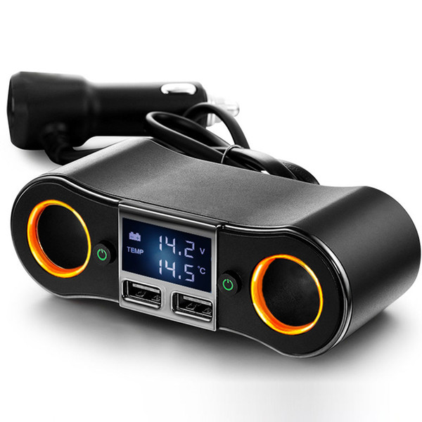 12V DC Двойной разъем прикуривателя USB гнездо автомобиля Splitter зарядное устройство 2 Way адаптер