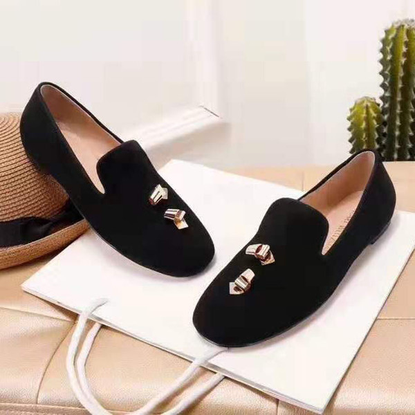 spring and autumn women's shoes designer leather flat bottom pregnant women shoes comfortable women's casual shoes 35-40 size F055DF0