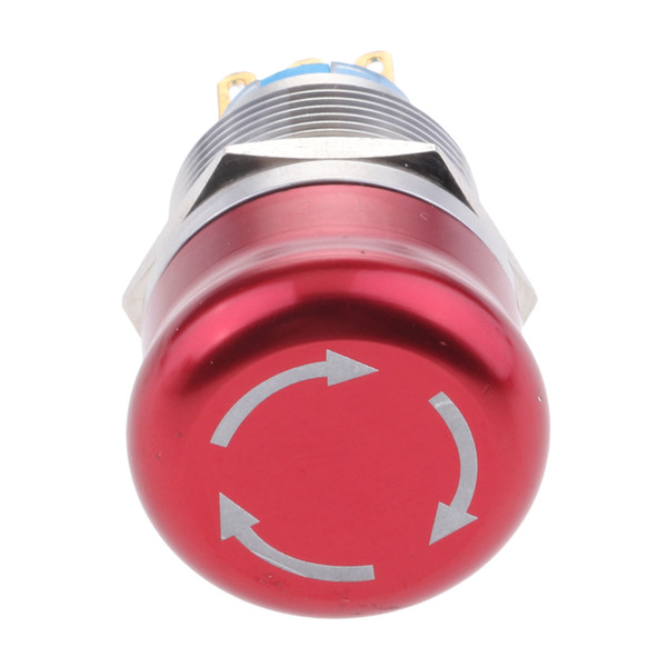 best selling Metal Mushroom Rotary Release Emergency Stop Push Button Switch Waterproof