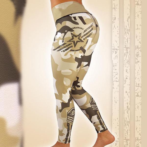Leggings Sport Frauen Fitness Camouflage Nahtlose Leggings Hohe Taille Atmungsaktive Fitness Yoga Hosen Mädchen Sport Gym