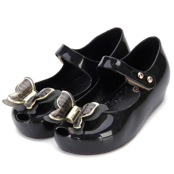 Mini Melissa Butterfly Kids Shoes Children Jelly Sandals Soft Bottom Princess Girl 2018 New Summer Girls sandals